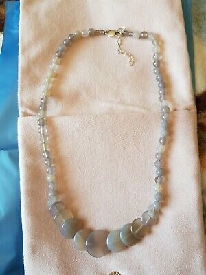 $ CDN6.91 • Buy QVC Semi Precious Grey Agate Necklace