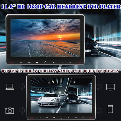 $188 • Buy 11.6in Screen HD Car Headrest DVD Player Android 7.0 Headrest Monitor Universal