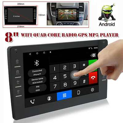 $117 • Buy 8  4-core 1+16GB Android 9.1 Car Stereo Radio GPS Navigation MP5 Wifi Player FM