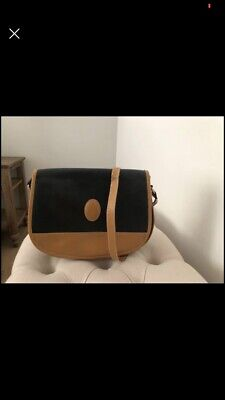 AU150 • Buy Vintage Yves Saint Laurent YSL Strap Tan Black Bag