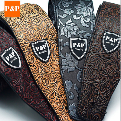 AU21.95 • Buy Guitar Strap PU Leather Basses Adjustable Acoustic Electric Classic Luxury Soft