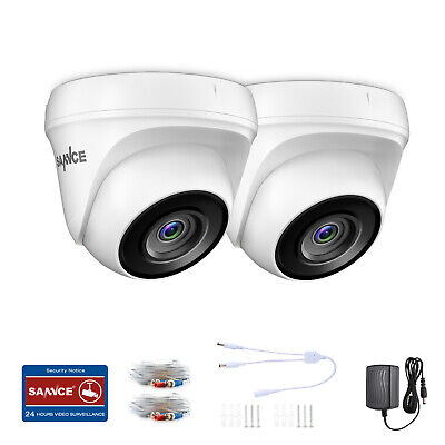 £39.99 • Buy SANNCE 2pcs 3000TVL Dome Outdoor White CCTV Camera IP66 For Home Security System