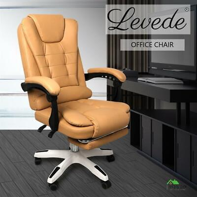 AU187 • Buy Levede Office Chair Gaming Recliner Racing Computer Chairs PU Executive Footrest
