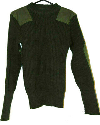 $29.11 • Buy Military Sweater Jack Young Mens 40 100% Wool Crew Neck Commando Olive Top