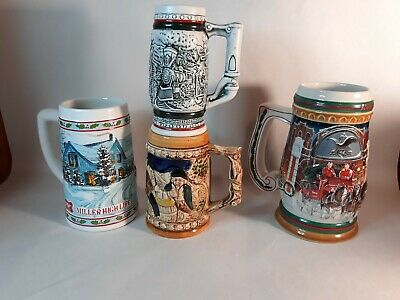 $ CDN36.33 • Buy Vintage MILLER-BUDWEISER-Avon Beer Mug STEIN LOT OF 4