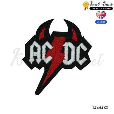 £1.99 • Buy ACDC Horns Music Band Patch Embroidered Iron On Sew On PatchBadge For Clothes