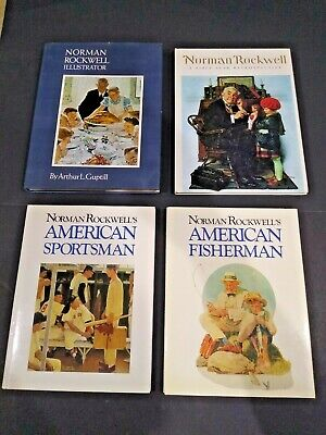 $ CDN10.01 • Buy Lot Of 4 Norman Rockwell Illustrated Books, All Hardcovers, See Complete List