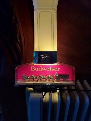 $ CDN62.49 • Buy Vintage  Budweiser King Of Beers Clydesdale Horse Sign Light Bar Advertisement
