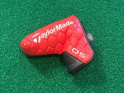 £8.22 • Buy TAYLORMADE OS BLADE PUTTER HEADCOVER - Black Red Head Cover GOOD