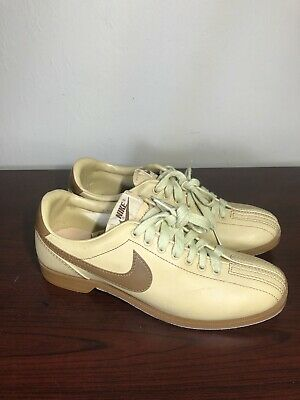 AU129.02 • Buy Vintage 70/80's Nike Bowling Shoes Tan With Brown Swoosh Men's Size 8