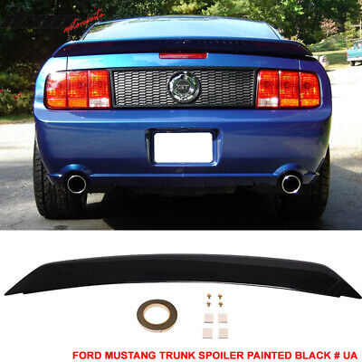 $135.99 • Buy Fits 05-09 Ford Mustang OE Trunk Spoiler Painted Black # UA - ABS