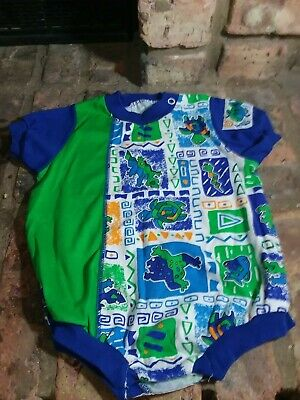 £7.24 • Buy Healthex Baby Short One-piece Snap 6-9 Months. Turtle Snake Frog Fish