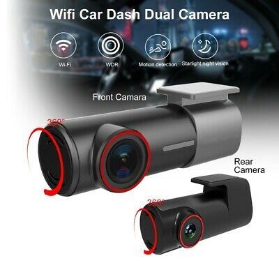AU86.79 • Buy 1080P 170° Wide Angle Dual Dash Car Camera WiFi Front And Rear Night Vision Cam