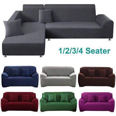AU19.99 • Buy Stretch Couch Sofa Lounge Covers Recliner 1 2 3 4 Seater L Shape Sofa Protector