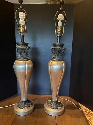 $850 • Buy Vintage Maitland Smith Pair Of Classical Antiquity Sculpture Lamps Hand Made