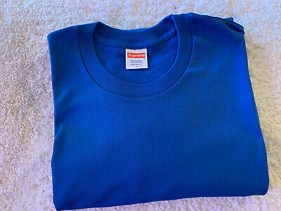$ CDN18.19 • Buy Supreme Blank Tee Royal Blue Size Large Long Sleeve