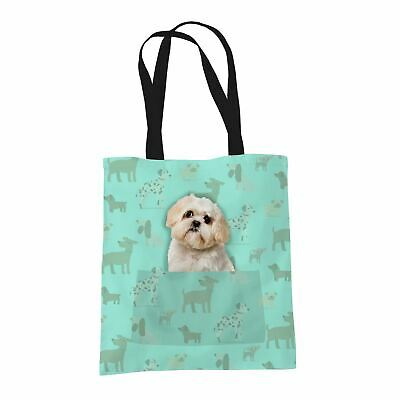 £6.97 • Buy Shih Tzu Gifts For Dog Lovers Owners Tote Bag With Dogs On