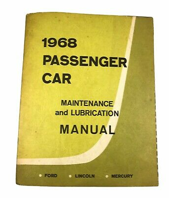 $7.50 • Buy 1968 Ford Lincoln Mercury Car Maintenance And Lubrication Manual