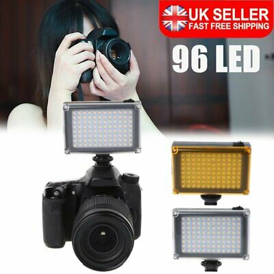 96 LED Phone Video Light Photo Lighting On DSLR Camera Camcorder Hot Shoe Lamp • 12.96£