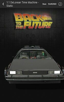 $150 • Buy Back To The Future DeLorean Rare #25000 VeVeNFT 3D Digital Collectible Sold Out