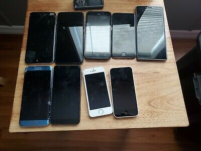 $ CDN159.78 • Buy 9 Cell Phone Lot For Parts IPhone Android
