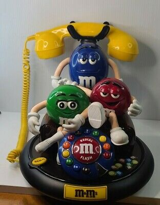 $49.95 • Buy M&M's Candy ANIMATED Talking Light-Up TELEPHONE Phone Red Green Blue Couch