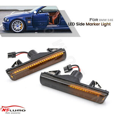$26.99 • Buy Sequential Led Side Marker Turn Signal Light For 99-06 BMW E46 M3 E38 740i Smoke