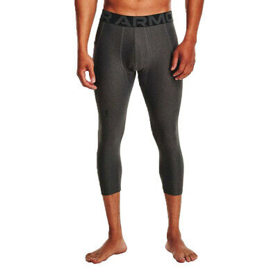 £28.99 • Buy Under Armour Mens HeatGear 3/4 Compression Tights Bottoms Pants Trousers Grey