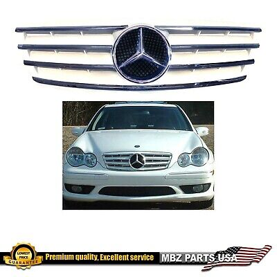 $149 • Buy C63 AMG Style Grille White With Star 2001 2002 2004 2005 2006 C240 C230 C320