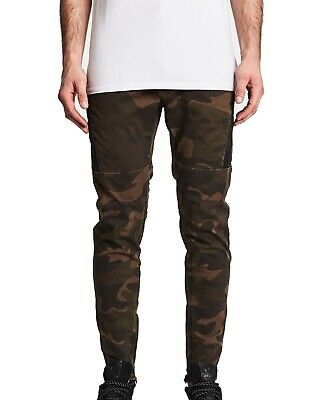 AU1.28 • Buy NxP Mens Jeans Green Size 32x30 Slim Fit Twill Colorblock Stretch $145 472