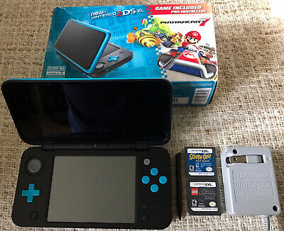 AU361.07 • Buy New Nintendo 2DS XL Black/Blue Limited Edition: Charger Stylus SD Card Box Games