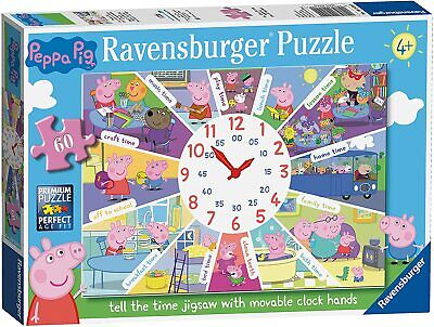 £10.39 • Buy Ravensburger Peppa Pig Tell The Time 60 Piece Clock Jigsaw Puzzle Multicolor