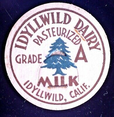 $5 • Buy CatalinaStamps: Milk Bottle Top From Idyllwild Dairy, Idyllwild CA, Lot #W13-15