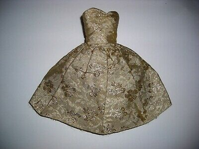 $ CDN25.06 • Buy Vintage Barbie   Gold Brocade   Strapless Clone Dress / Outstanding See Pictures