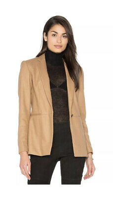 AU192.59 • Buy RAG & BONE Emmet Single Button Blazer Jacket In Camel  Tan Size 0