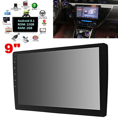 $158.89 • Buy Android 8.1 9in Car Stereo GPS Navigation Radio Player 1Din WIFI Mirror Link
