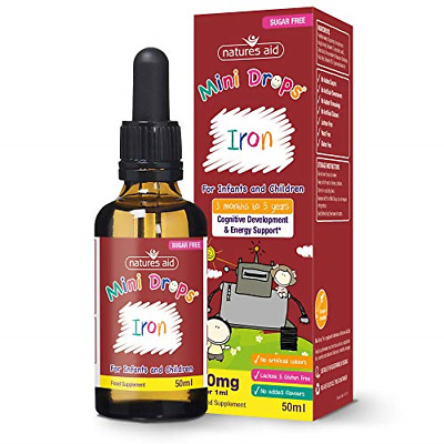 £8.47 • Buy Natures Aid Iron Mini Drops For Infants And Children, Cognitive Development, 50