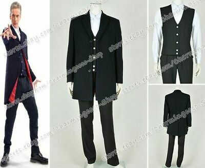 Doctor Buy The Who Twelfth 12th Dr. Dark Peter Capaldi Cosplay Costume Whole Set • 53.32£