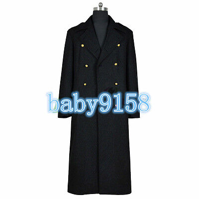 Doctor Who Torchwood Captain Jack Harkness Cosplay Costume Black Trench Coat MM • 36.36£