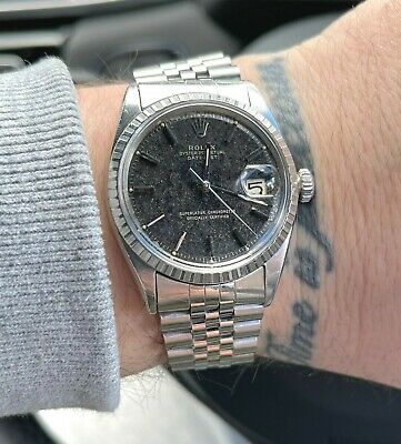 $ CDN7694.41 • Buy ♛ Vintage Rolex DateJust 1603 36mm Tropical Black Dial 1966, Original Bracelet ♛