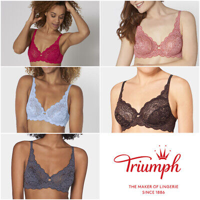 £28.95 • Buy Triumph Amourette 300 W X 10166797 Non Padded Lace Underwired Bra RRP £38