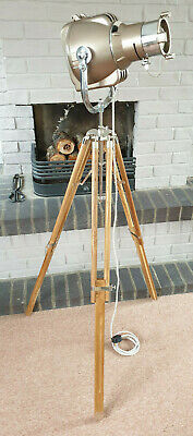 AU444.68 • Buy Vintage Floor Standing Tripod Theatre Lamp Strand 23 - Dimmable Touch Sensitive