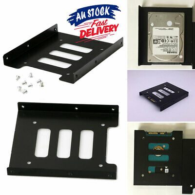 AU5.19 • Buy 2.5  SSD To 3.5  Bay Black HDD Mounting Bracket Hard Drive Dock Tray Adapter