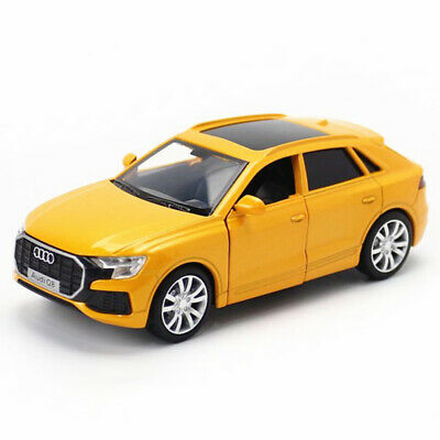 $ CDN19.01 • Buy 1:36 Audi Q8 2019 SUV Model Car Diecast Toy Collection Pull Back Yellow Kids