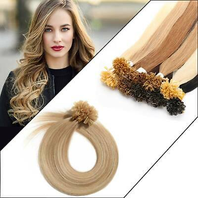 £26.99 • Buy Glossy Drawn Deluxe Human Hair Extensions Double Drawn Flowy Nail U Tip Hair