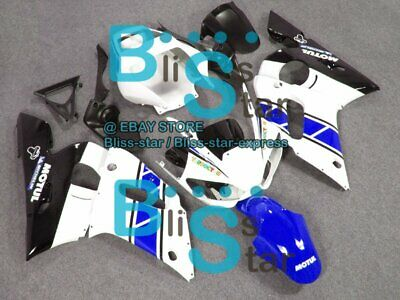 $495 • Buy White Blue INJECTION Fairing Fit Yamaha YZFR6 YZF-R6 99 00 01 1998-2002 71 A3