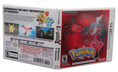 $7.95 • Buy Pokemon Y Version Nintendo 3DS Replacement Case & Cover Art (NO GAME DISC)