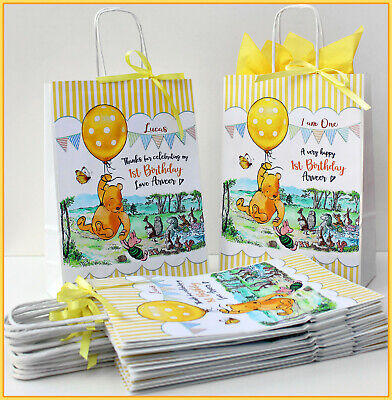 £1.50 • Buy Winnie The Pooh Personalised Party Gift Bag: Birthday, Christening, Baby Shower