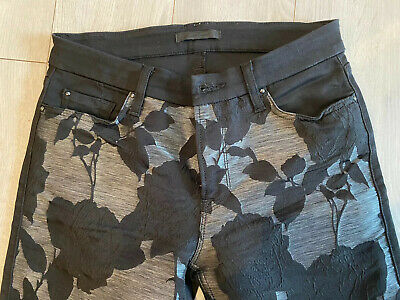 AU28.42 • Buy 7 For All Mankind Women's Floral Print Stretch Skinny  Leg Jeans Pants