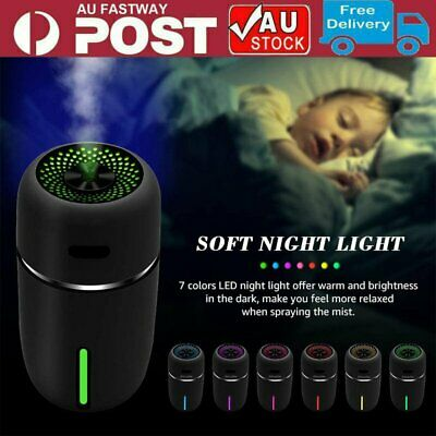 AU21.90 • Buy USB Rechargeable LED Car Humidifier Air Purifier Essential Oil Aroma Diffuser AU